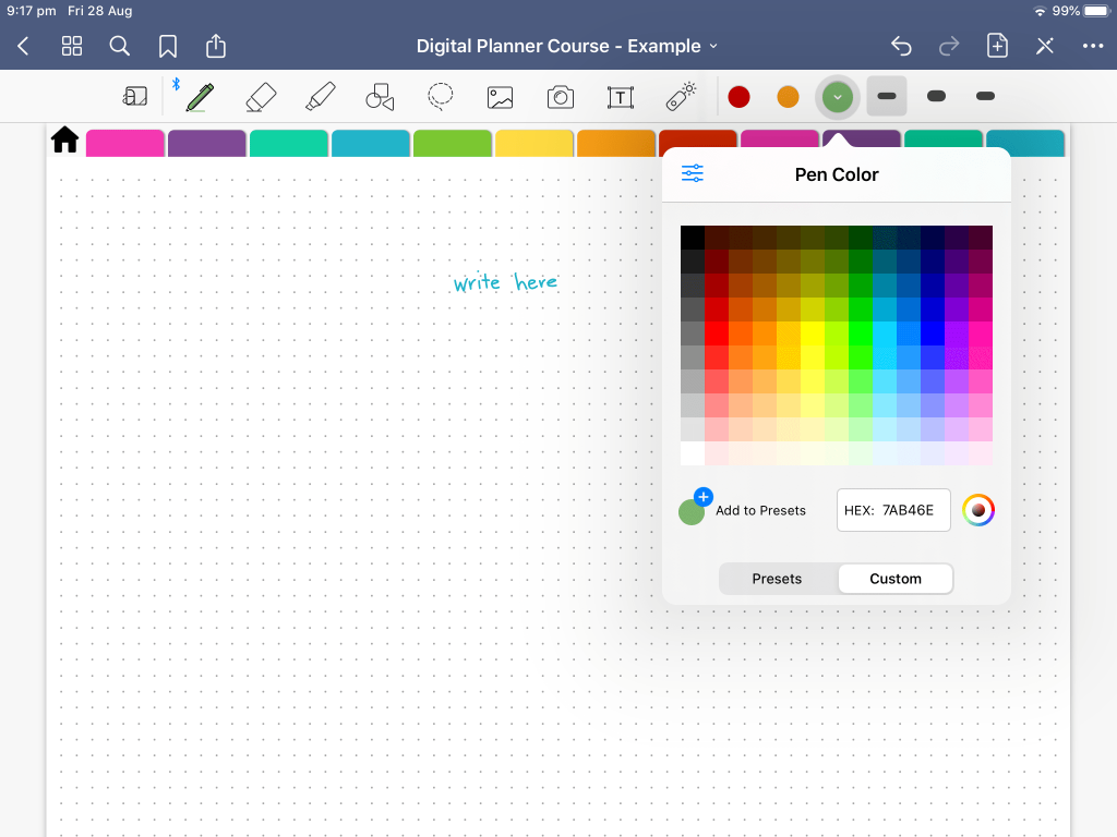 how to change colors in goodnotes 5 tips tutorials digital planning color chart color wheel custom
