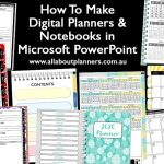 How to make digital planners or notebooks in Microsoft PowerPoint