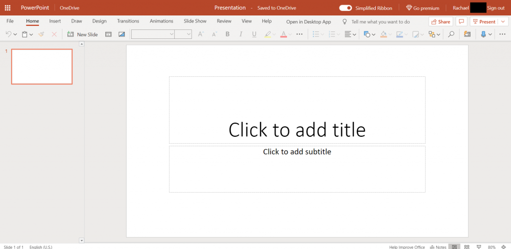 how to use microsoft powerpoint online for free