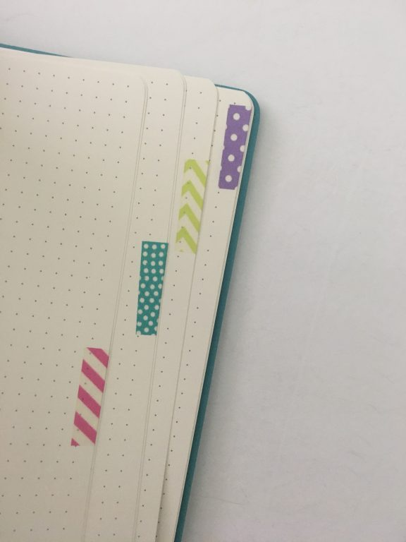 how to use washi tape for bullet journaling tips inspiration ideas color coded tabs simple quick easy hacks bujo bullet journal newbie setting up a new notebook