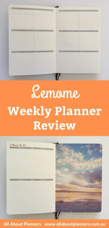 lemome weekly planner review pros and cons undated horizontal basic lined checklist combined weekend sunday start
