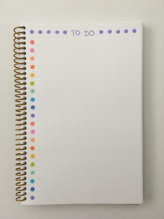rainbow to do list tombow play color k dot markers simple minimalist quick easy useful planner supplies stationery all about planners