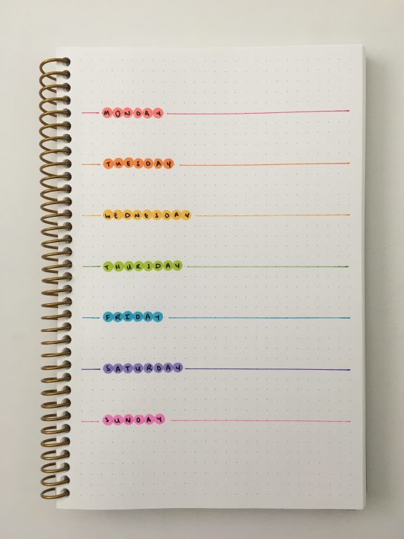 rainbow weekly spread ideas dot markers tombow play color k simple quick easy favorite planner supplies