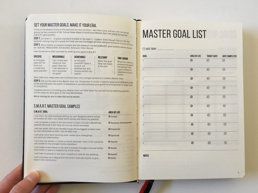 this is my era planner review weekly goals bookbound weekly review monthly review daily schedule undated_05