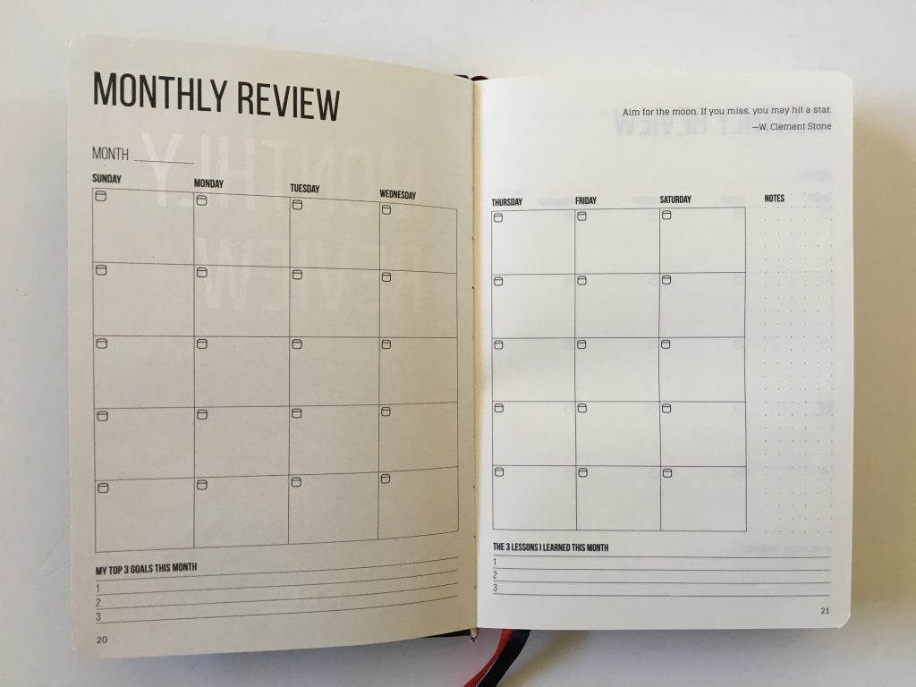 this is my era planner review weekly goals bookbound weekly review monthly review daily schedule undated_10