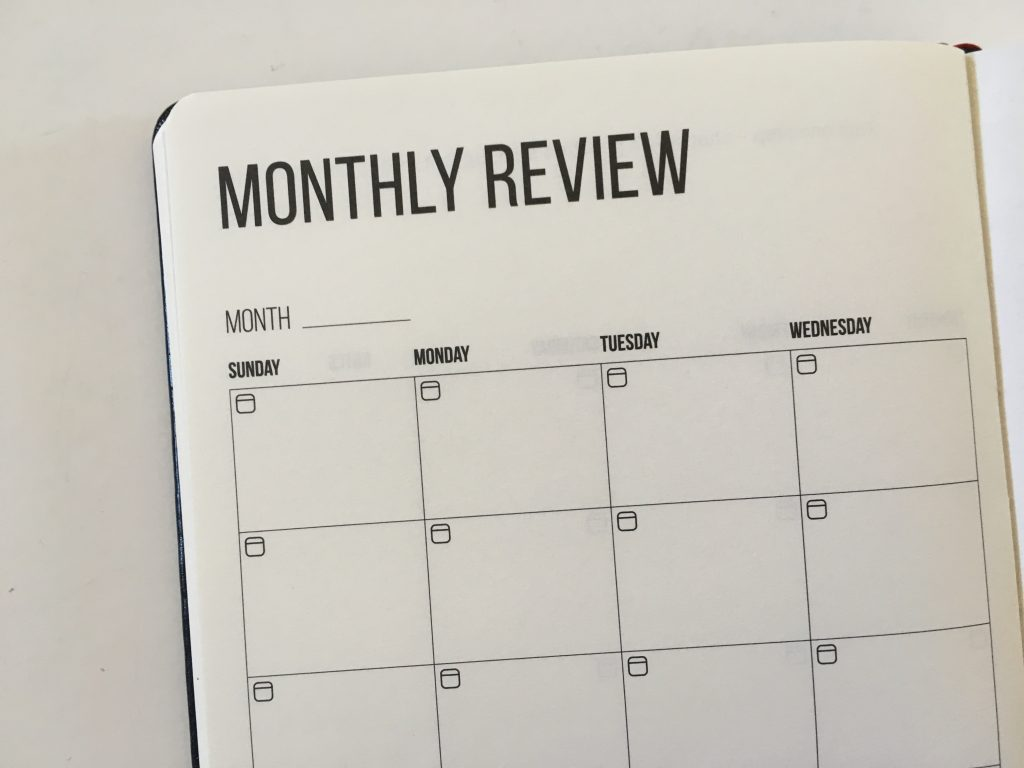 this is my era planner review weekly goals bookbound weekly review monthly review daily schedule undated_11