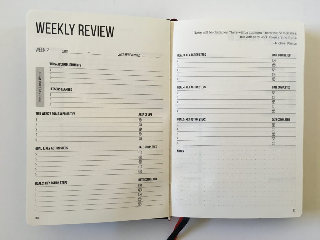 this is my era planner review weekly goals bookbound weekly review monthly review daily schedule undated_13