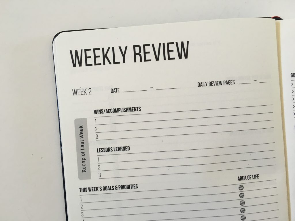 this is my era planner review weekly goals bookbound weekly review monthly review daily schedule undated_14