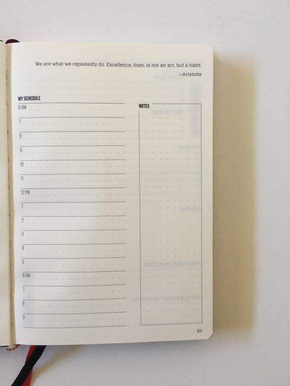 this is my era planner review weekly goals bookbound weekly review monthly review daily schedule undated_19