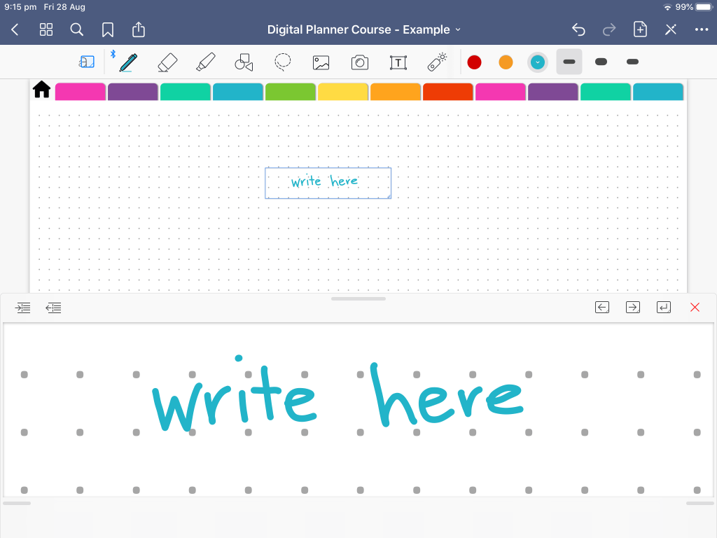 tips for using goodnotes 5 for digital planning tutorials instructions all about planners handwriting