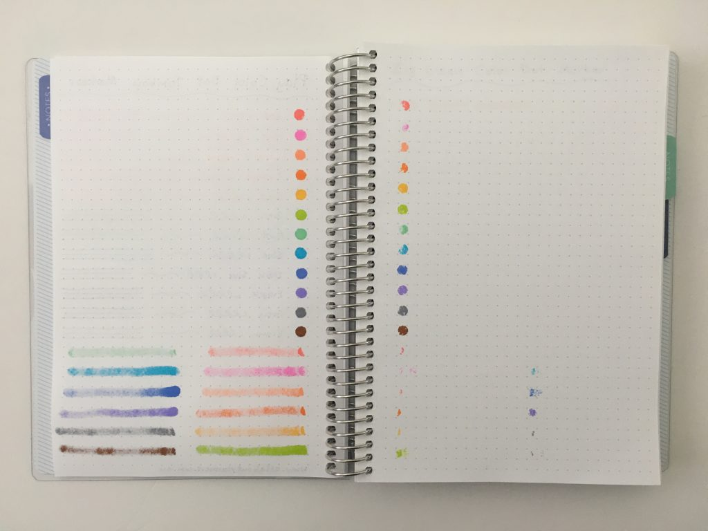 tombow play color dot markers ghosting bleed through pen testing rainbow favorite planner accessories all about planners