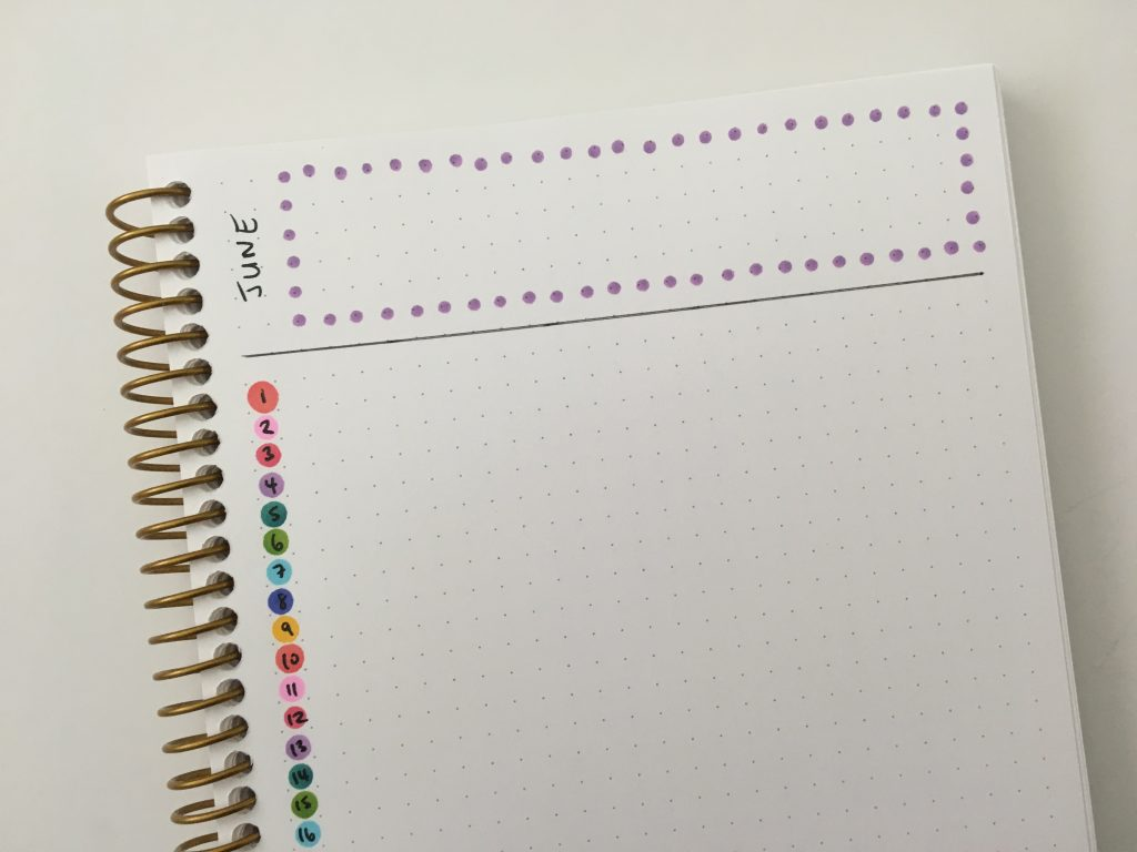 tombow play color dot markers instead of date dot stickers quick tips inspiration ideas favorite planning supplies list monthly calendar layout zig clean color dot tombow play color