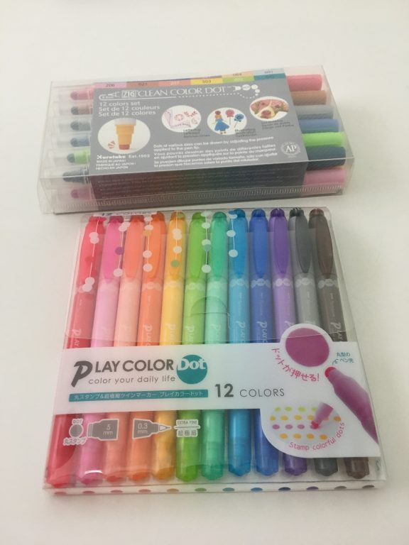tombow play color k dot markers versus zig kuretake clean color dot marker favorite planner supplies