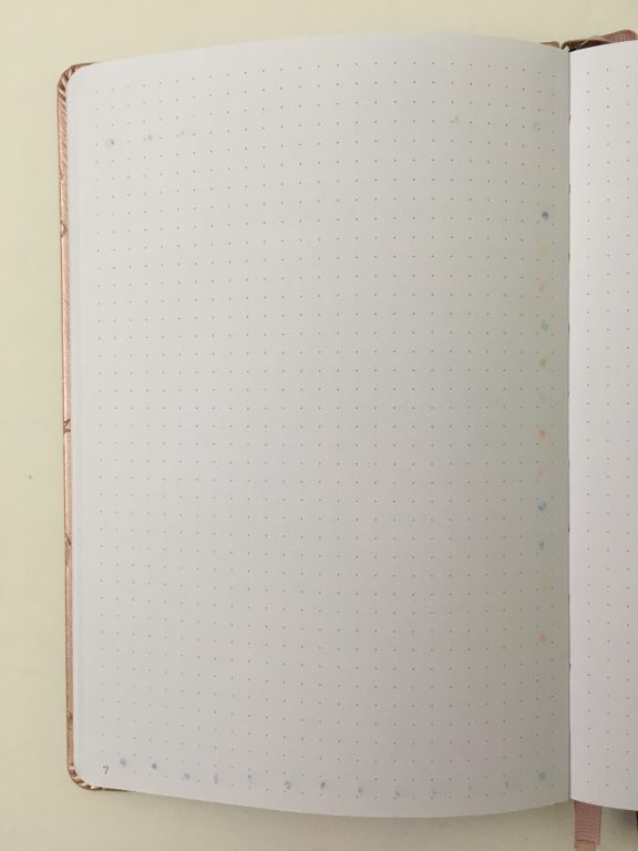 tombow play dot marker ghosting bleed through in the clever fox dot grid notebook bullet journal review paper quality