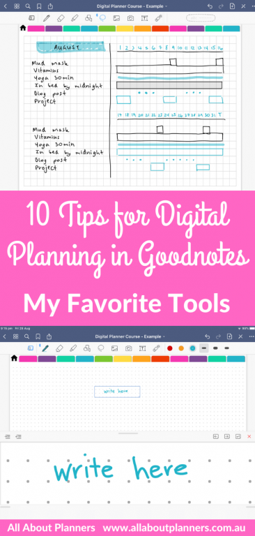 using goodnotes how to use tips instructions tutorial newbie beginner all about planners tools lasso duplicate pages reorder instructions copy text change color duplicate straight lines