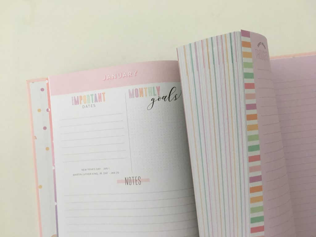 Happy Planner book bound weekly review horizontal pastel colorful lay flat classic size hardcover monday start video flipthrough_23