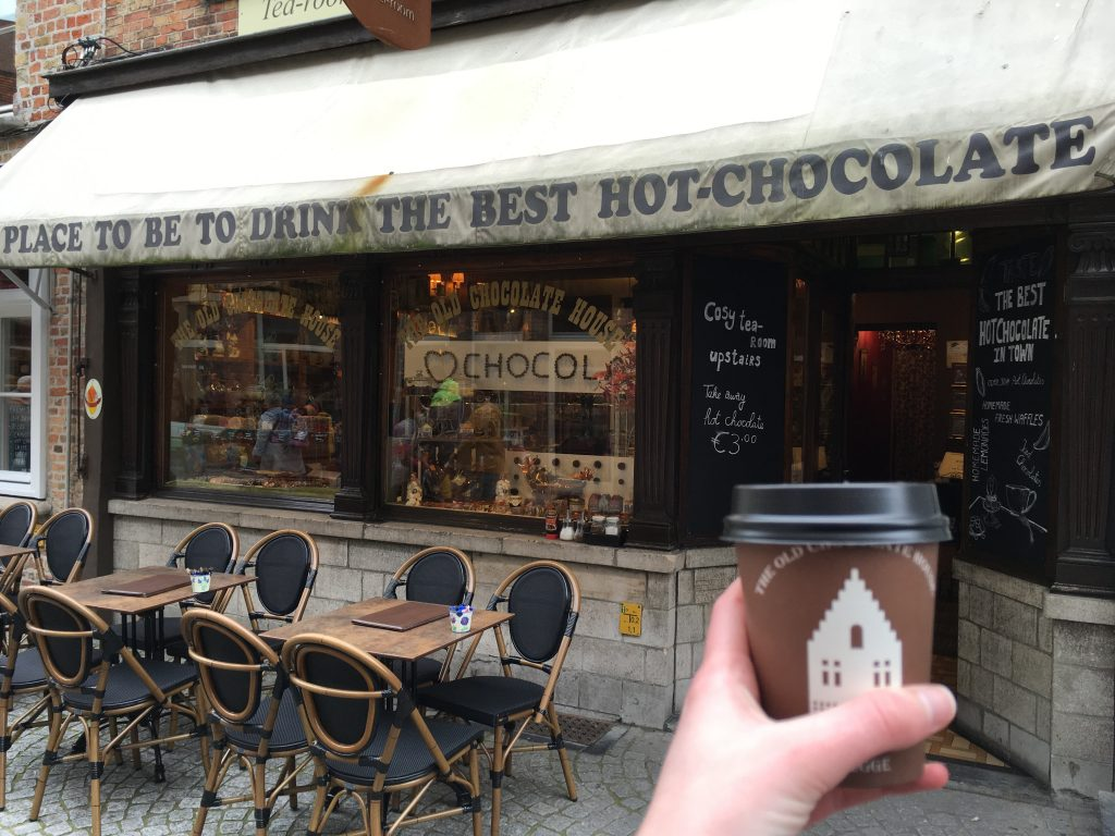 The Old Chocolate House bruges best hot chocolate in belgium things to see and do on a day trip to Bruges