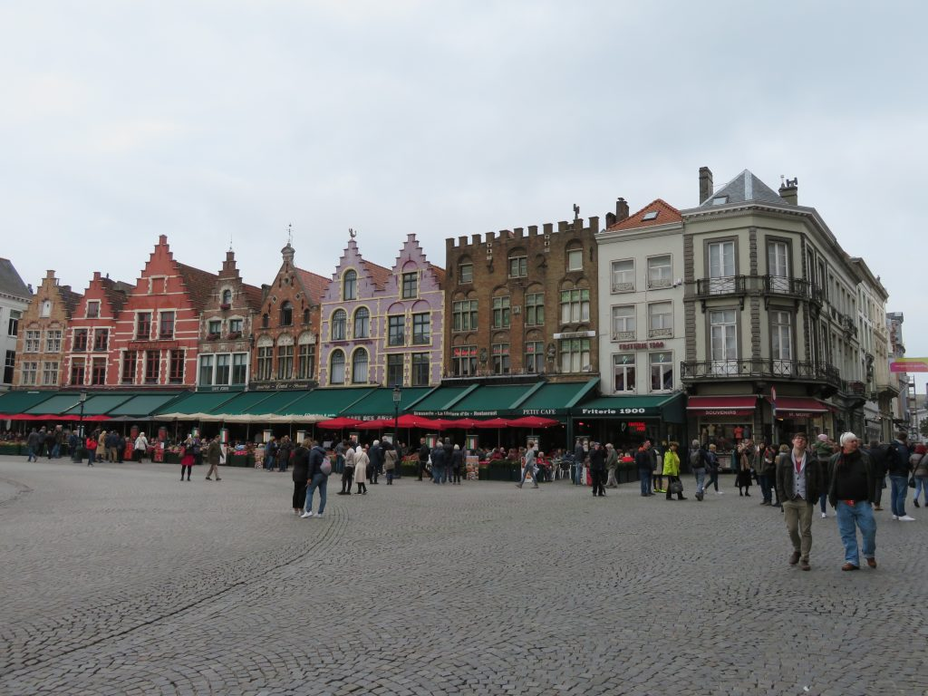 Bruges main square things to see and do best photospots autumn day trip from Brussels via the train