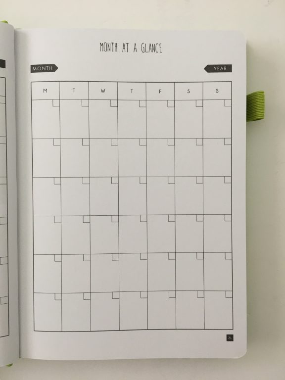 Lux Productivity planner review pros and cons sewn bound dot grid day to a page index weekly planning reflection monthly calendar_15