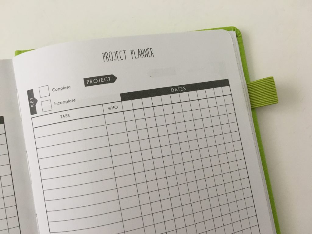 Lux Productivity planner review pros and cons sewn bound dot grid day to a page index weekly planning reflection monthly calendar_26