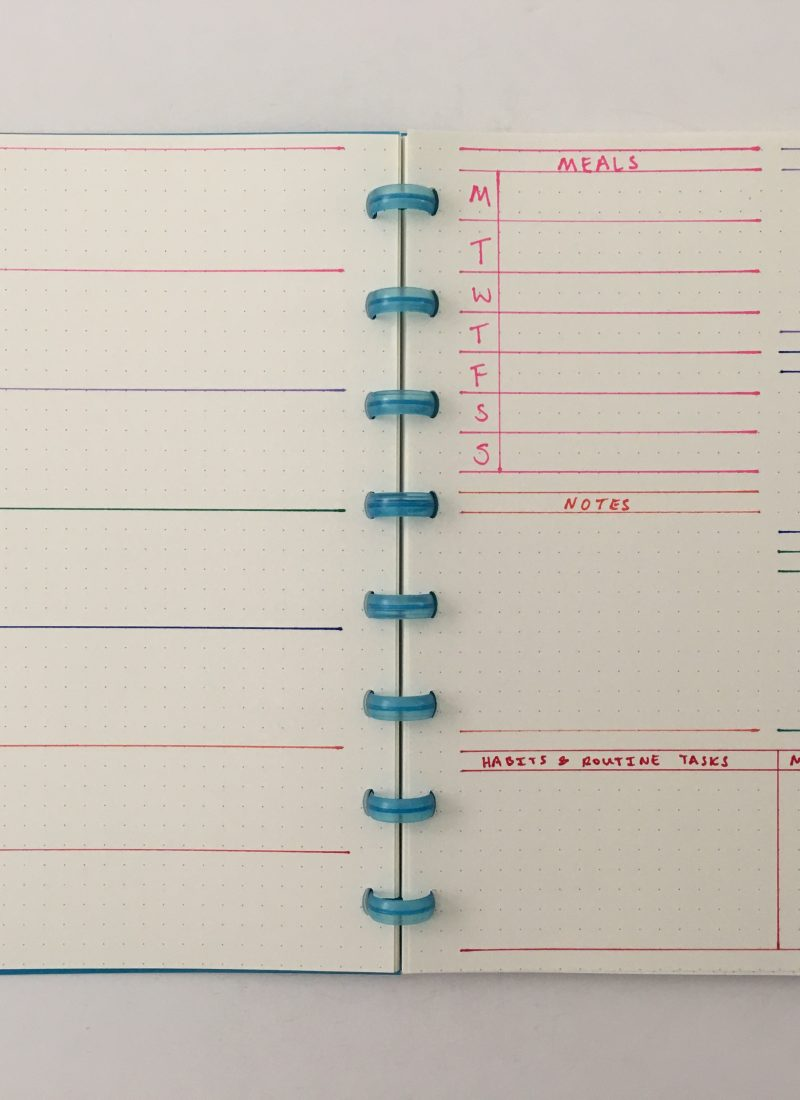 bullet journal dashboard weekly spread crayola take note dual tip highlighter pens rainbow monday weeks start habit tracker goals project meals atoma discbound dot grid notebook