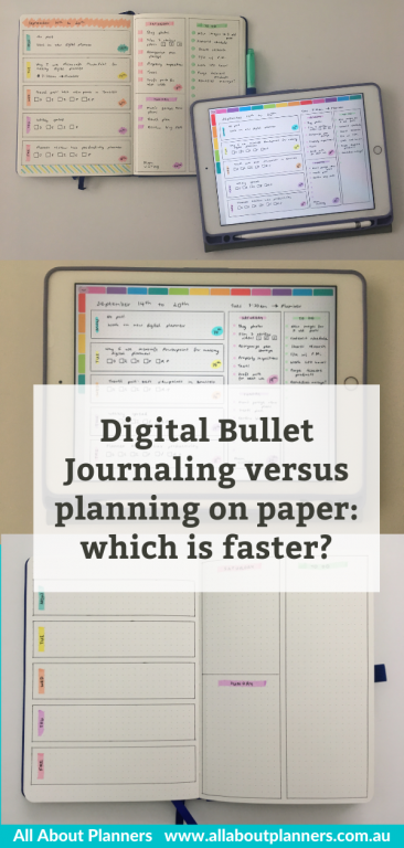 bullet journaling on paper versus digitally which is faster comparison digital bujo goodnotes app tool instructions tips planner newbie tips