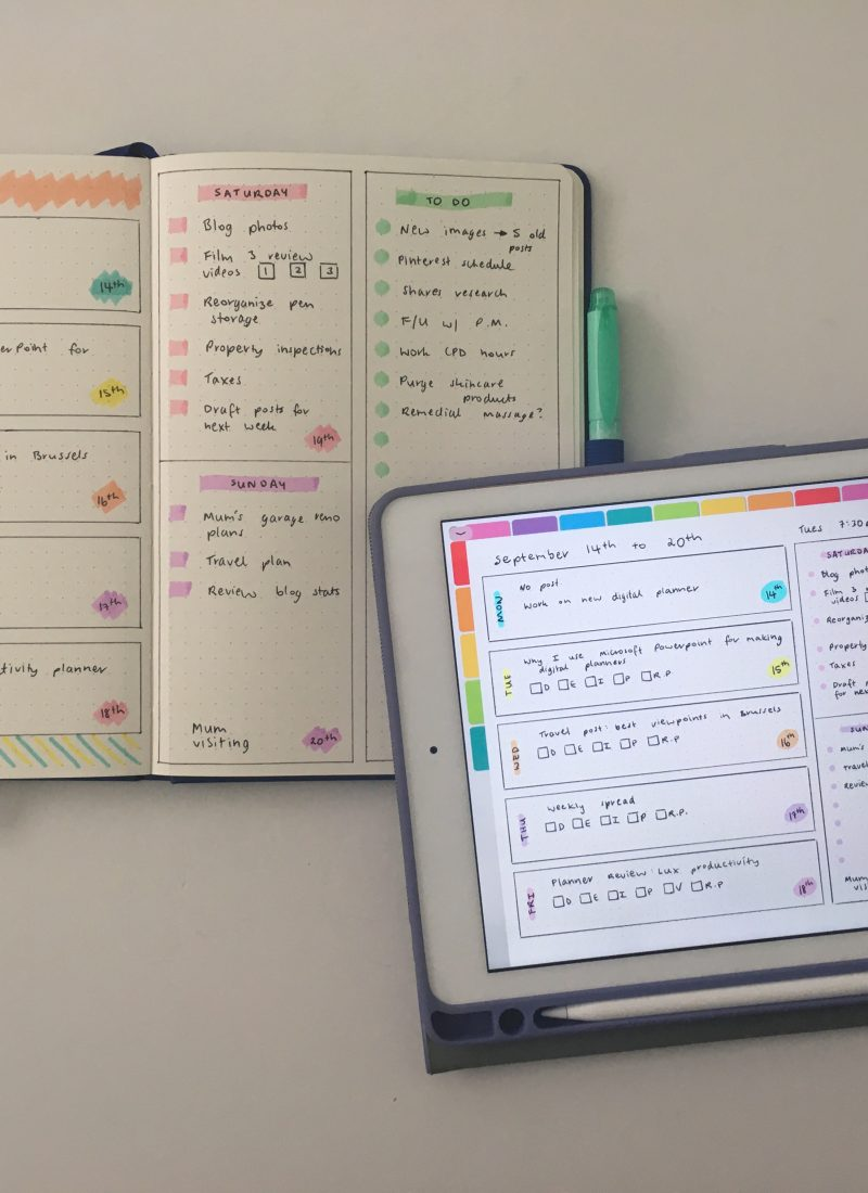 Drawing bullet journal spreads on paper versus digitally on an iPad (which is faster?)
