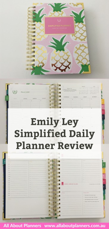emily ley simplified daily planner review day to a page rainbow schedule timed layout 6am to 9pm colorful pros and cons video flipthrough