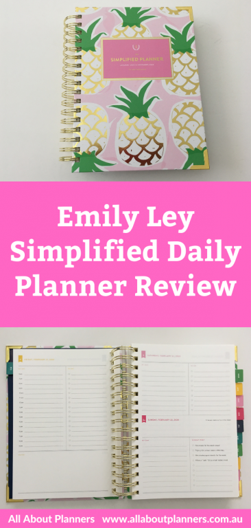 emily ley simplified daily planner review day to a page rainbow schedule timed layout 6am to 9pm colorful pros and cons video flipthrough all about planners