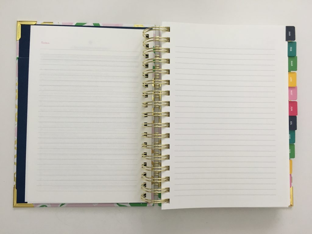 emily ley simplified planner daily day to a page layout tabs gold foil pineapple schedule 6am to 9pm hourly rainbow_14