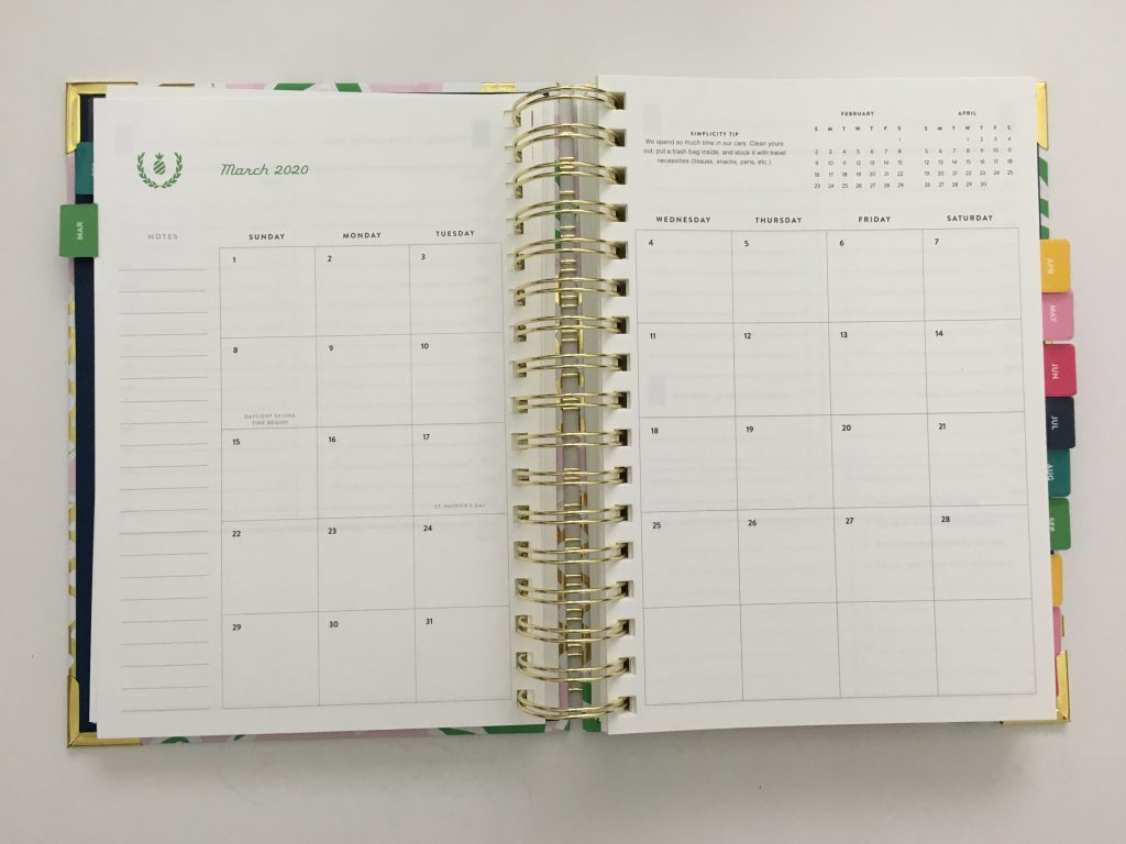 emily ley simplified planner daily day to a page layout tabs gold foil pineapple schedule 6am to 9pm hourly rainbow_17