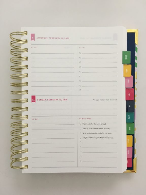 emily ley simplified planner daily day to a page layout tabs gold foil pineapple schedule 6am to 9pm hourly rainbow_20