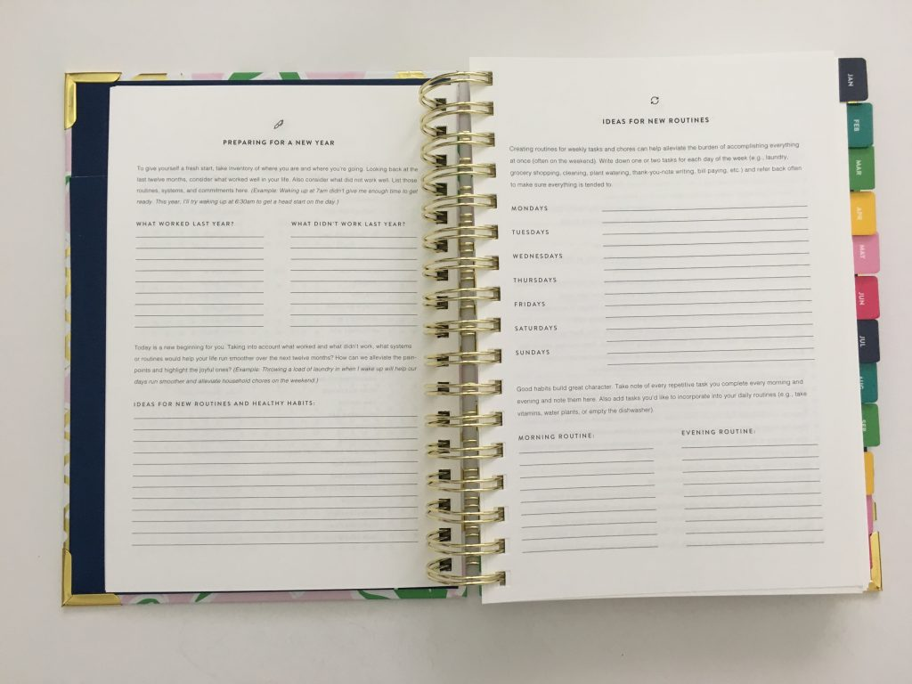 emily ley simplified planner daily day to a page layout tabs gold foil pineapple schedule 6am to 9pm hourly rainbow_25