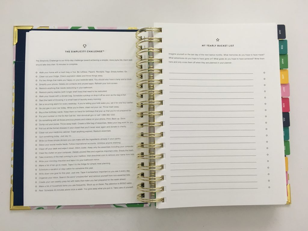 emily ley simplified planner daily day to a page layout tabs gold foil pineapple schedule 6am to 9pm hourly rainbow_26