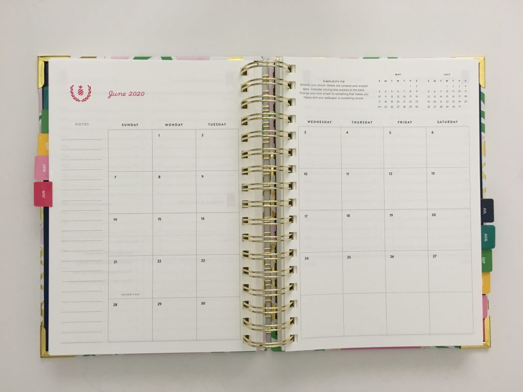 emily ley simplified planner daily day to a page layout tabs gold foil pineapple schedule 6am to 9pm hourly rainbow_32