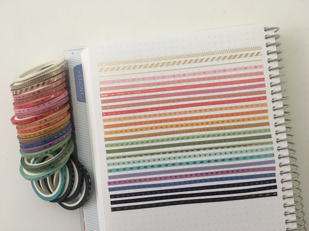 favorite skinny washi tape for planning rainbow carefully crafted 3mm swatches samples