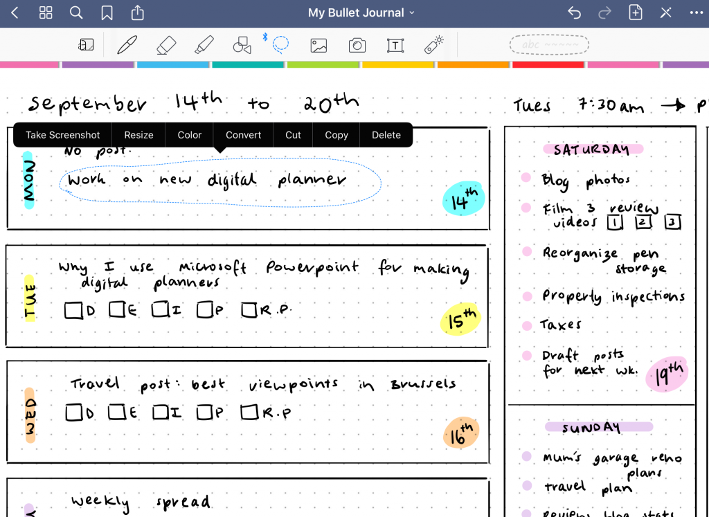 how to change text color in goodnotes handwriting 2