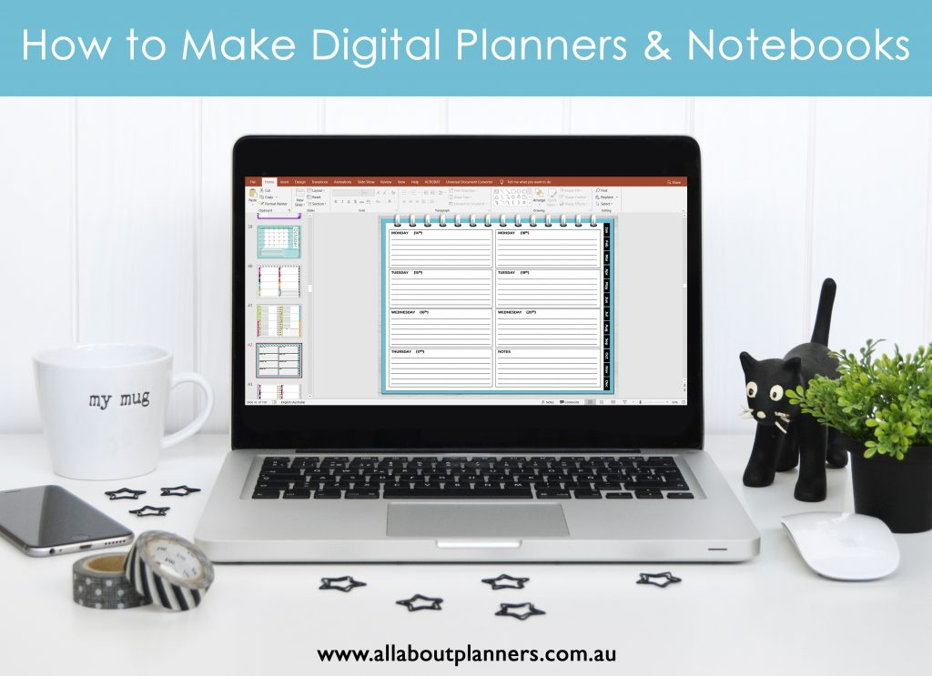 how to make digital planners and notebooks in microsoft powerpoint tutorials ecourse all about planners