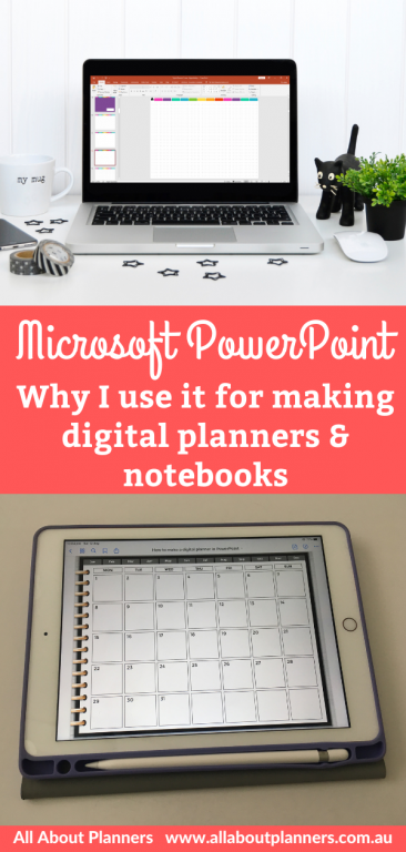 microsoft powerpoint why i use it for making digital planners and notebooks best software for creating a digital planner tutorials newbie all about planners