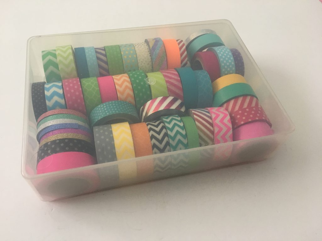 washi tape storage clear washi tape container best way to store planner supplies tips ideas inspiration all about planners recommendation