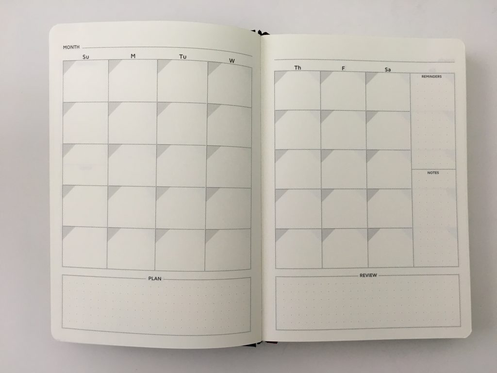 Cossac planner review weekly daily day to a page planner undated sunday week start goals minimalist review_07