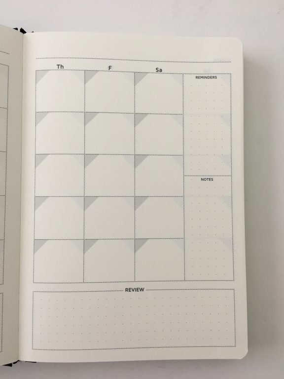 Cossac planner review weekly daily day to a page planner undated sunday week start goals minimalist review_08