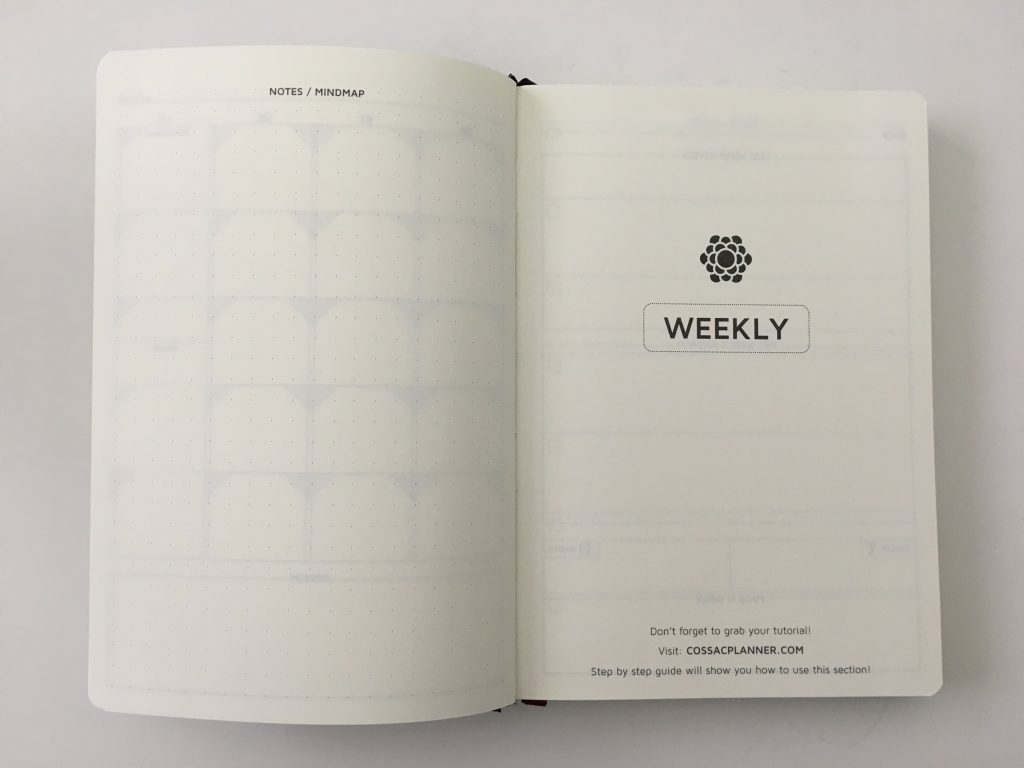Cossac planner review weekly daily day to a page planner undated sunday week start goals minimalist review_10