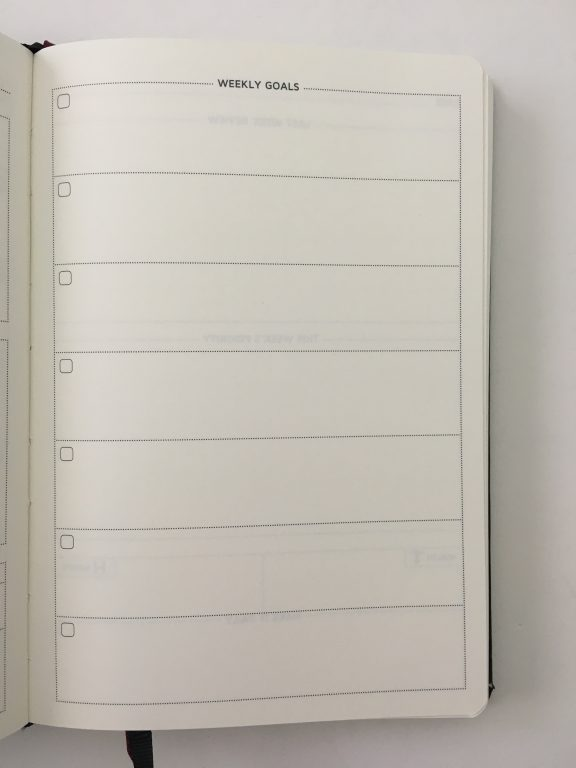 Cossac planner review weekly daily day to a page planner undated sunday week start goals minimalist review_12