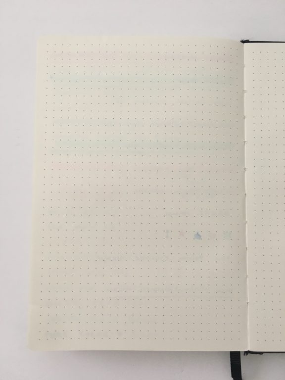 Lemome dot grid notebook bullet journal 5mm grid review pros and cons pen testing sewn bound a5 pen loop hardcover_14