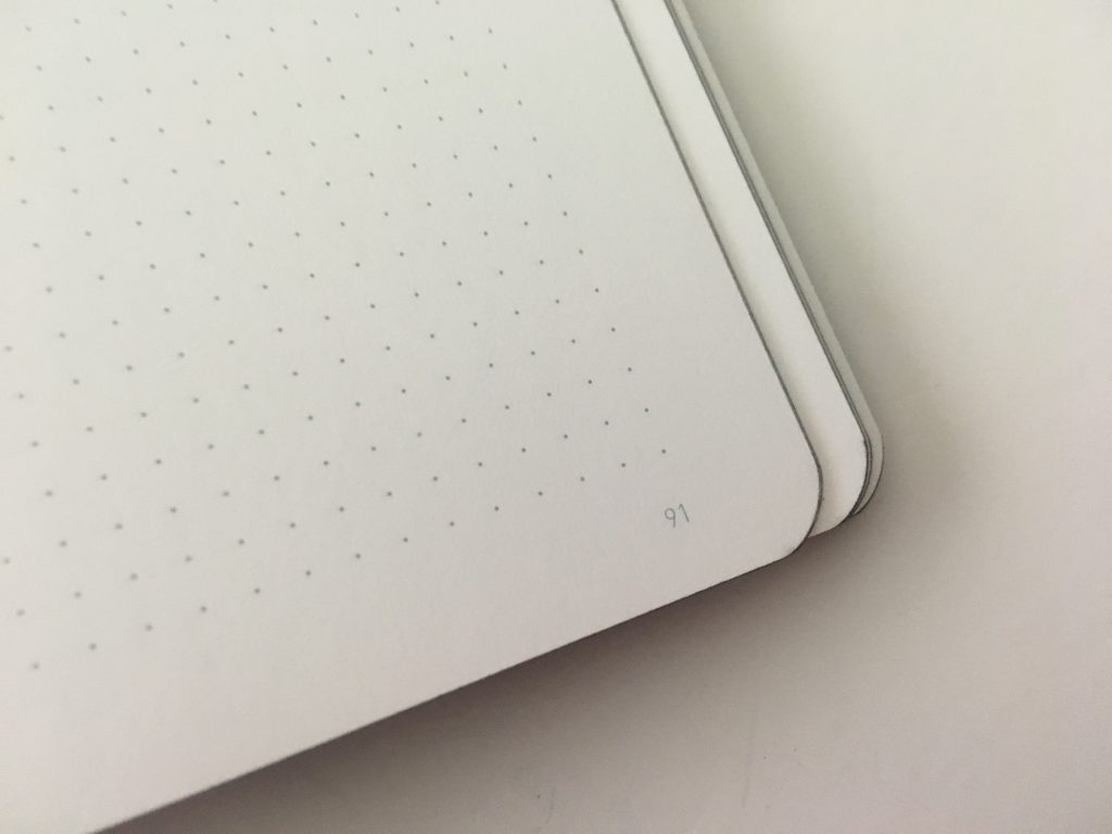 Nuuna dot grid notebook 3mm dot grid spacing softcover made in germany white paper pen test pros and cons review_06