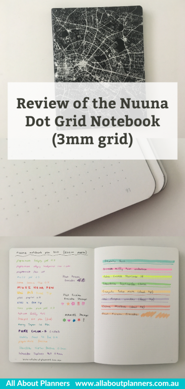 Nuuna dot grid notebook 3mm spacing review pros and cons sewn bound ghosting bleed through made in germany