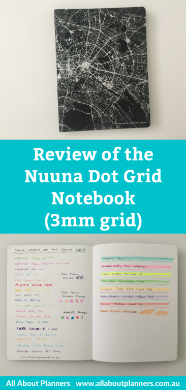 Nuuna dot grid notebook 3mm spacing review pros and cons sewn bound ghosting bleed through made in germany smooth paper