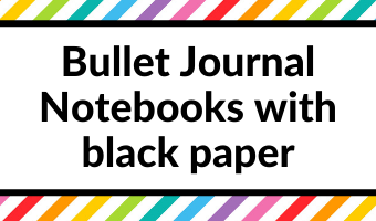 bullet journal notebooks with black paper blackout archer and olive peter pauper scribbles that matter