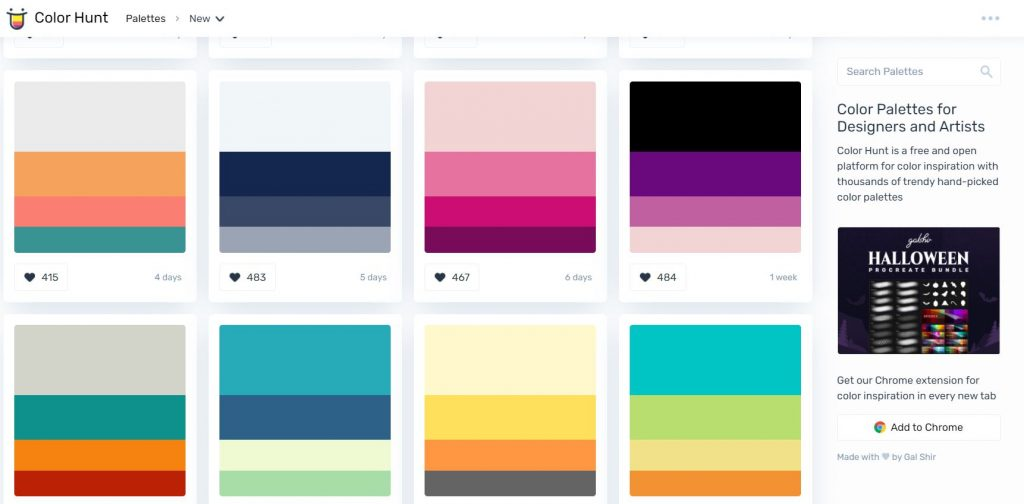 color hunt palettes tool how to find ideas for your weekly spread planning tips inspiration hacks